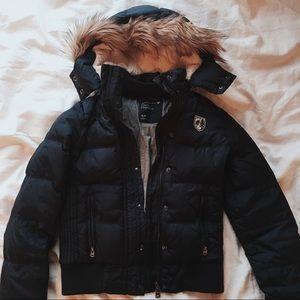 AE Navy Puffer Coat
